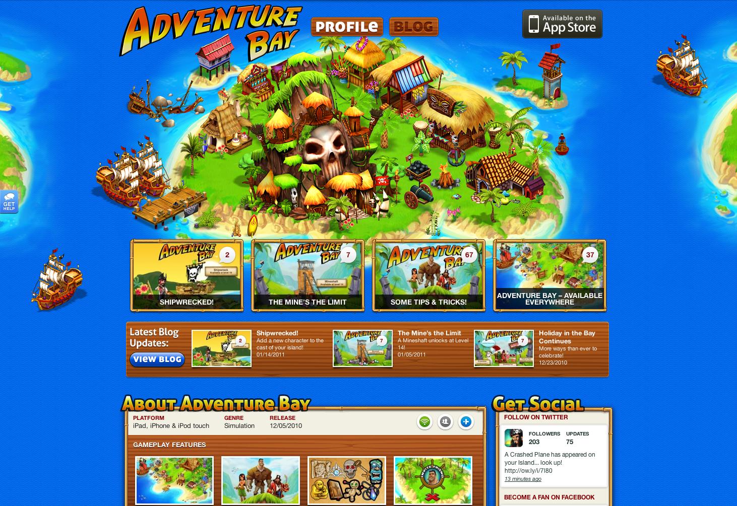 ngmoco:) Adventure Bay WordPress Theme: Header