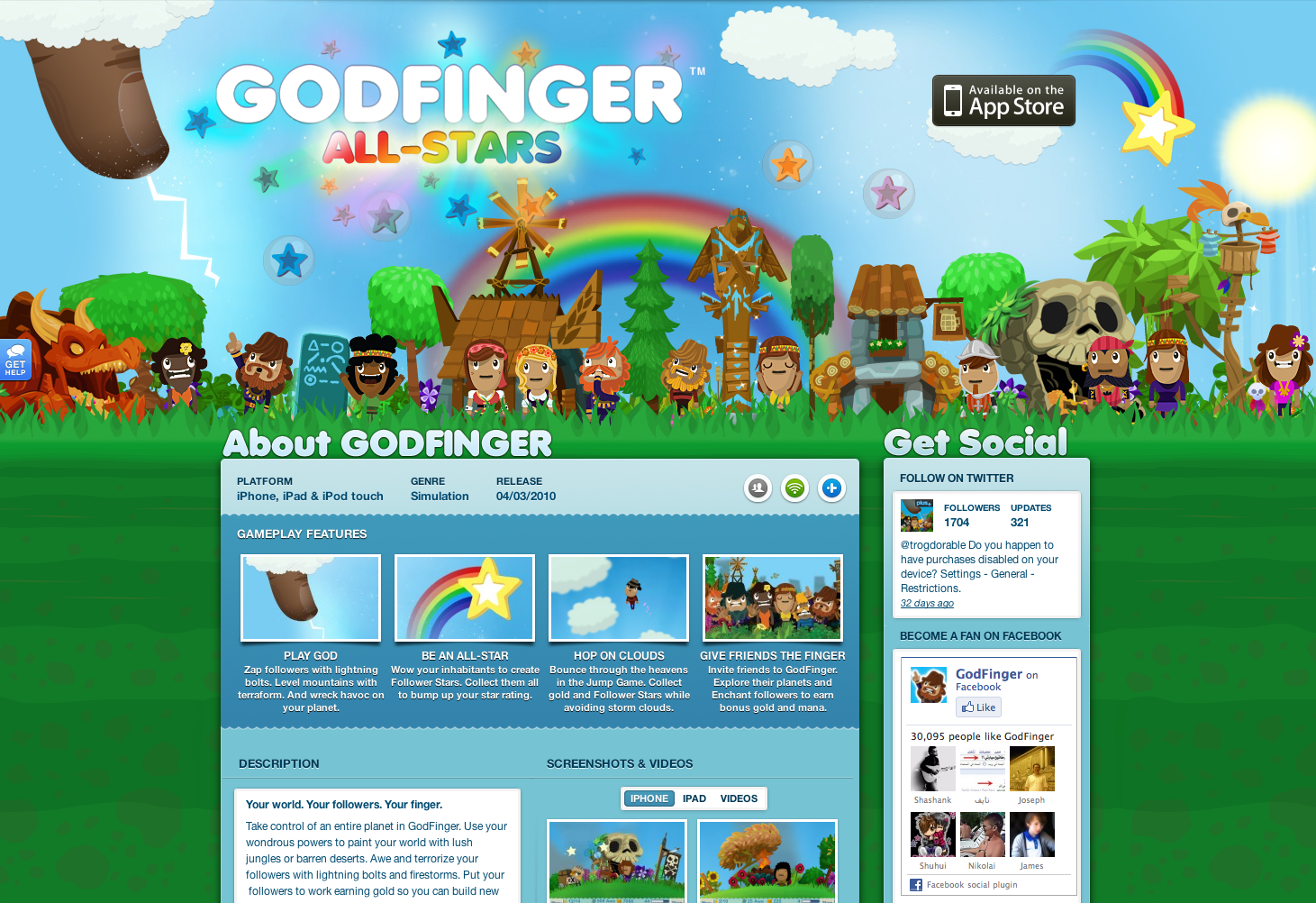 ngmoco:) Godfinger WordPress Theme: Header