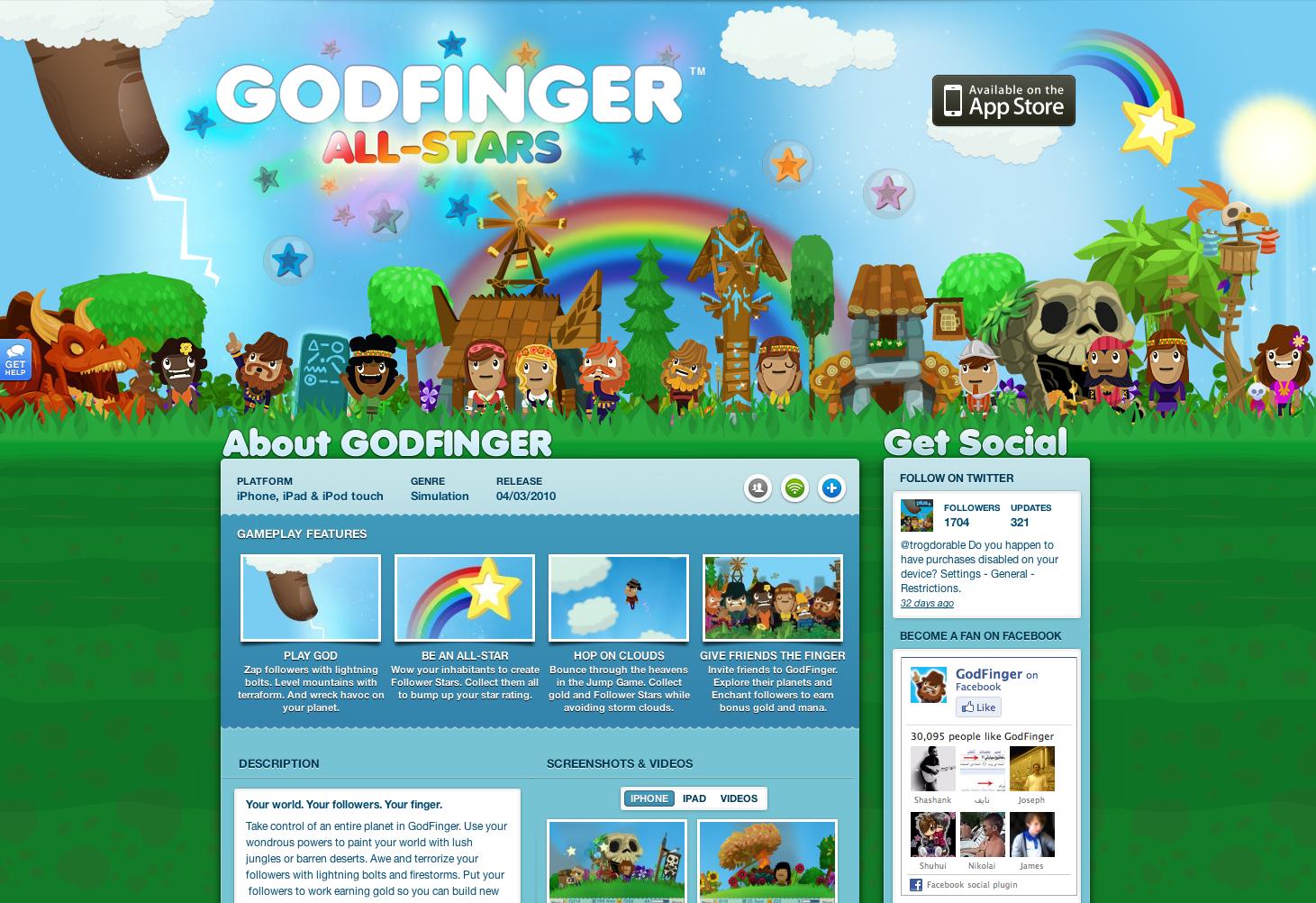 ngmoco:) Godfinger WordPress Theme: Header