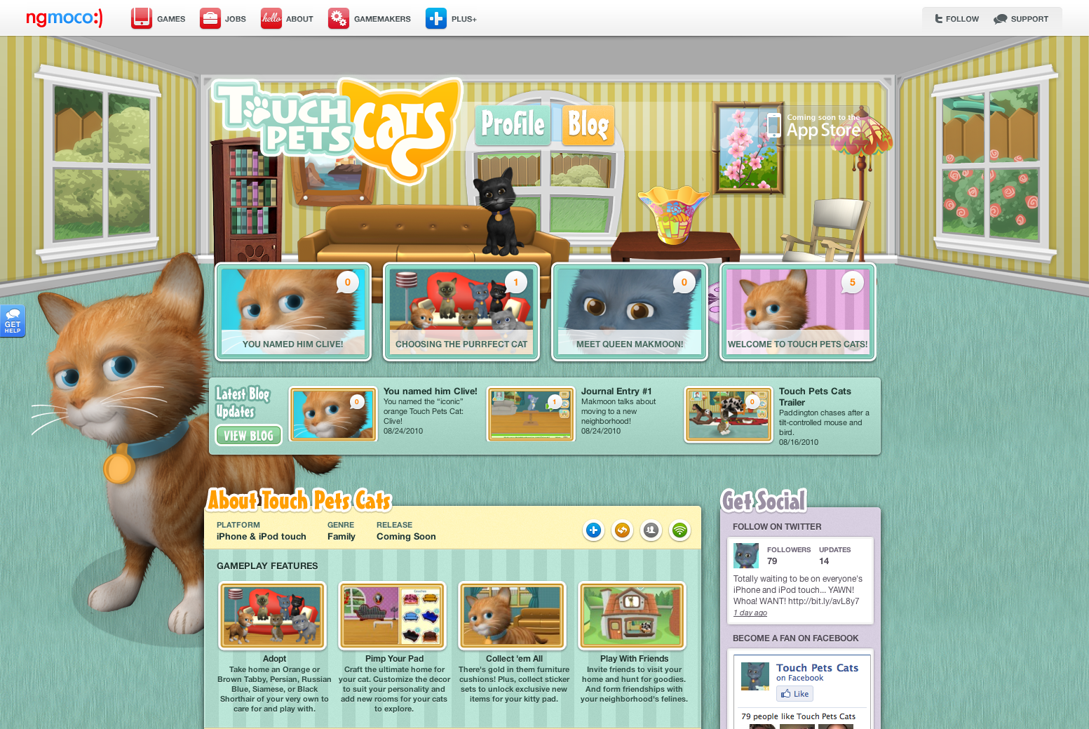 ngmoco:) TouchPets Cats WordPress Theme: Header 1