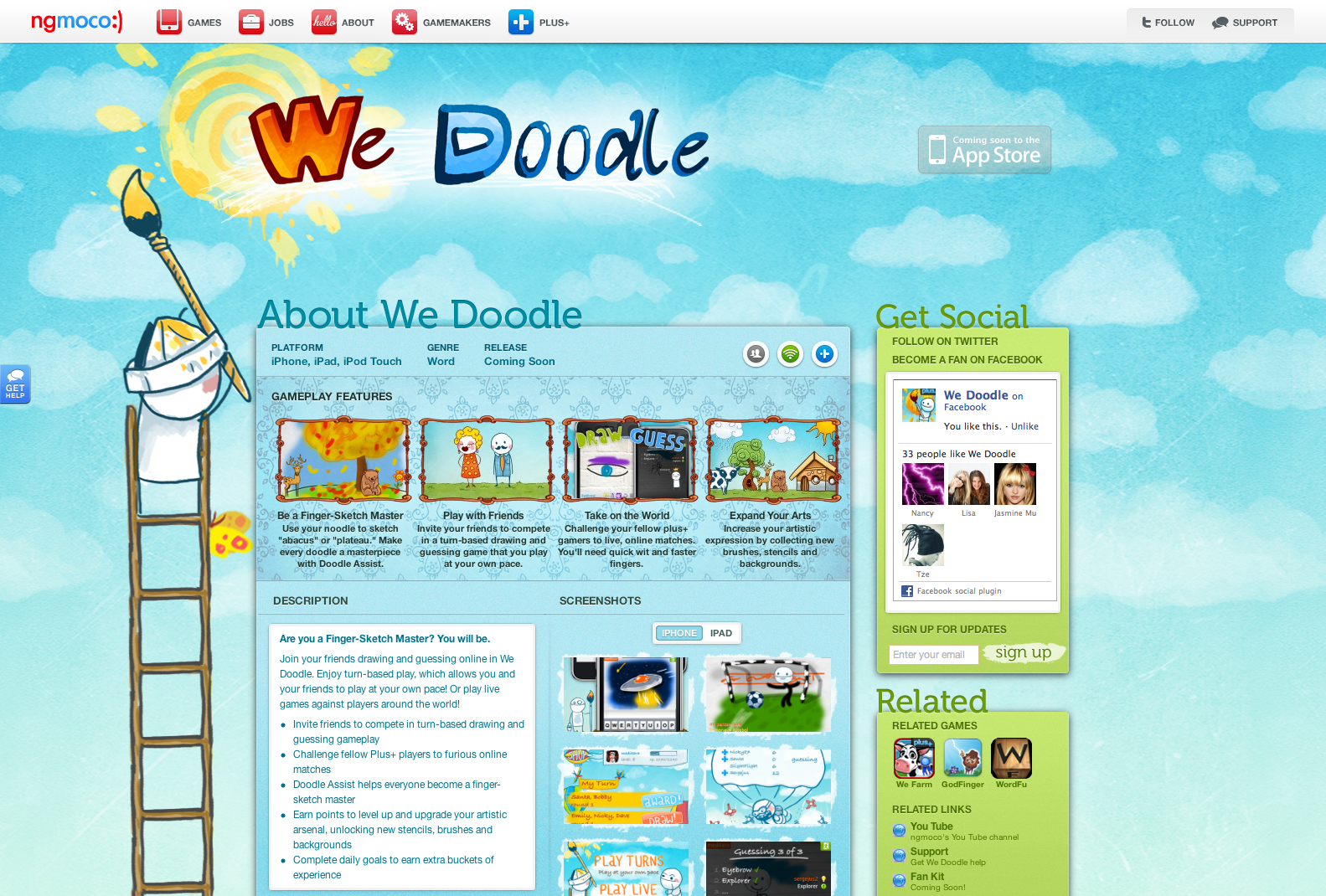 ngmoco:) We Doodle WordPress Theme: Header