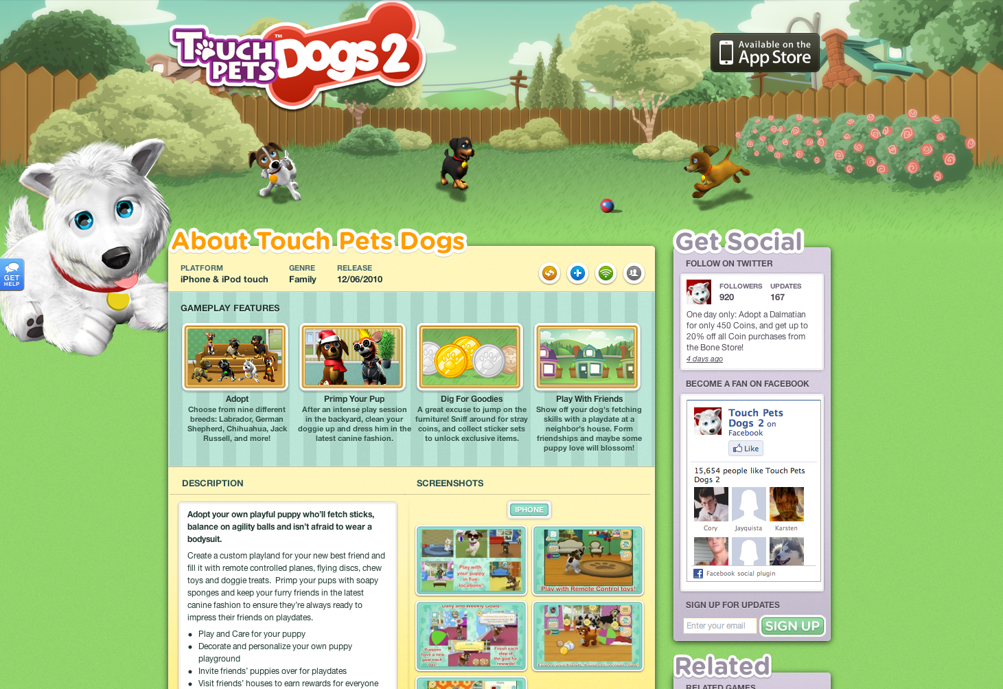ngmoco:) Touch Pets: Dogs 2 WordPress Theme