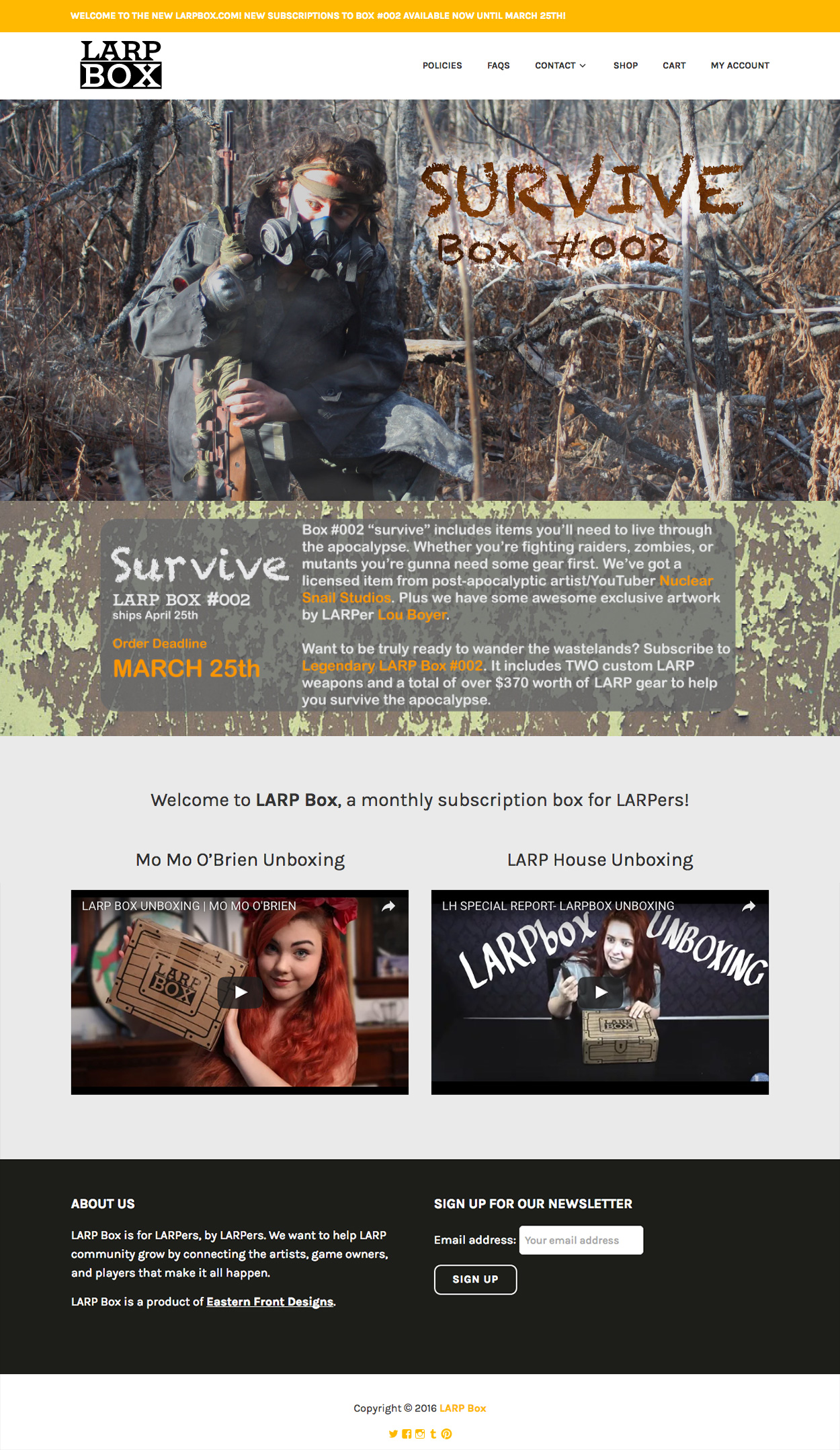 LARP Box Website