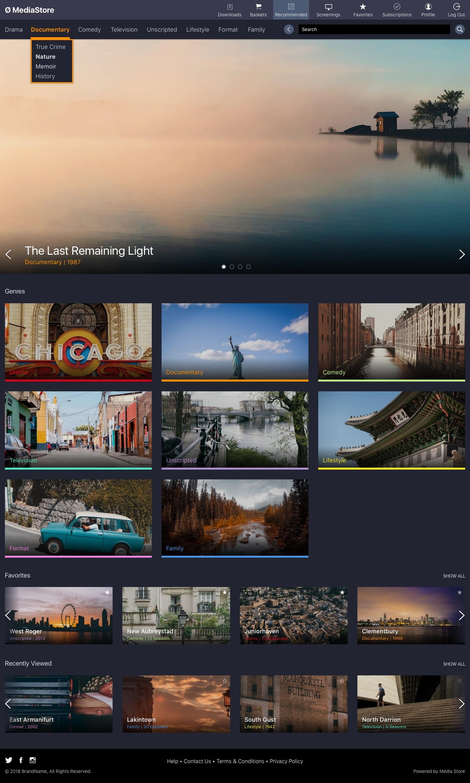 MediaStore Homepage