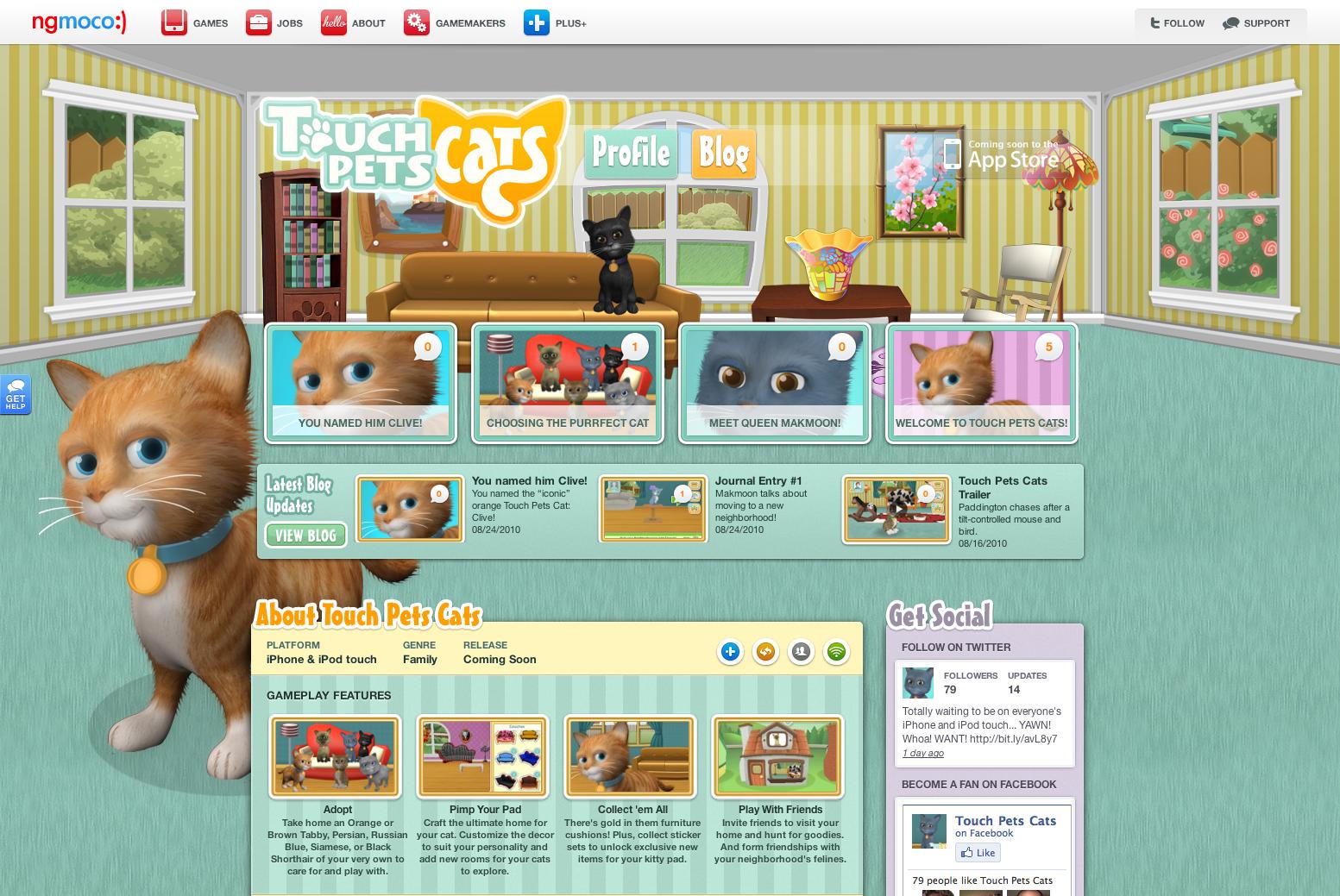 ngmoco:) TouchPets Cats WordPress Theme: Header 1