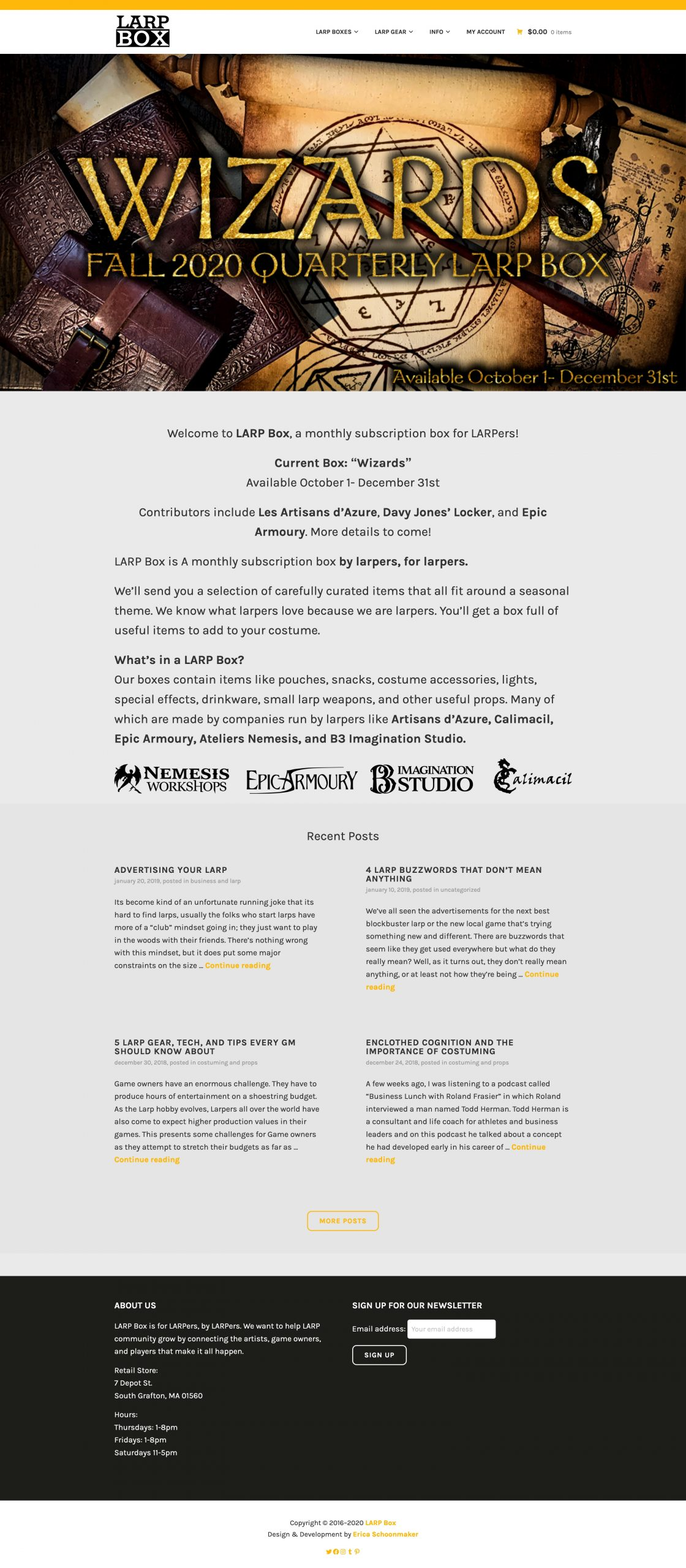 LARP Box Website